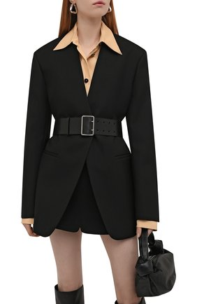 Женский кожаный ремень ALEXANDER MCQUEEN черного цвета, арт. 621405/1BR0Y | Фото 2