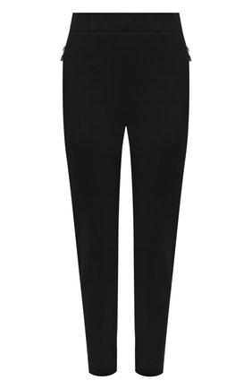 Женские брюки ALEXANDER MCQUEEN черного цвета, арт. 676957/QLAA8 | Фото 1 (Длина (брюки, джинсы): Укороченные; Материал внешний: Хлопок, Синтетический материал; Женское Кросс-КТ: Брюки-одежда; Стили: Кэжуэл; Силуэт Ж (брюки и джинсы): Узкие)