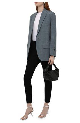 Женские брюки ALEXANDER MCQUEEN черного цвета, арт. 676957/QLAA8 | Фото 2 (Длина (брюки, джинсы): Укороченные; Материал внешний: Хлопок, Синтетический материал; Женское Кросс-КТ: Брюки-одежда; Стили: Кэжуэл; Силуэт Ж (брюки и джинсы): Узкие)