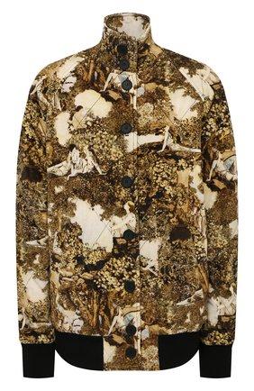 Женский хлопковый бомбер KENZO разноцветного цвета, арт. FB62BL1149V4   Фото 1 (Длина (верхняя одежда): Короткие; Рукава: Длинные; Материал внешний: Хлопок; Материал подклада: Хлопок; Кросс-КТ: Куртка, бомбер; Стили: Спорт-шик)