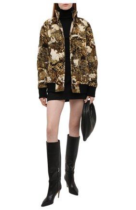 Женский хлопковый бомбер KENZO разноцветного цвета, арт. FB62BL1149V4   Фото 2 (Длина (верхняя одежда): Короткие; Рукава: Длинные; Материал внешний: Хлопок; Материал подклада: Хлопок; Кросс-КТ: Куртка, бомбер; Стили: Спорт-шик)