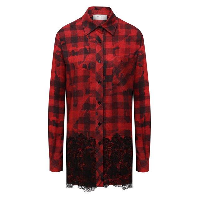 Рубашка из вискозы и шерсти Ermanno Firenze