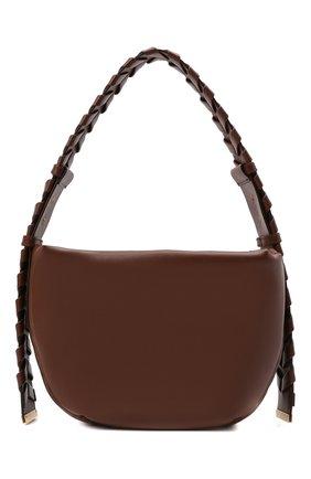 Женская сумка mackintosh small STELLA MCCARTNEY коричневого цвета, арт. 700271/W8872 | Фото 1 (Размер: small; Материал: Экокожа, Текстиль; Сумки-технические: Сумки top-handle)