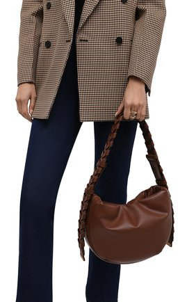 Женская сумка mackintosh small STELLA MCCARTNEY коричневого цвета, арт. 700271/W8872 | Фото 2 (Размер: small; Материал: Экокожа, Текстиль; Сумки-технические: Сумки top-handle)