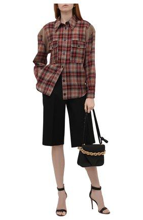 Женская шерстяная рубашка STELLA MCCARTNEY разноцветного цвета, арт. 603931/SSA50 | Фото 2 (Длина (для топов): Стандартные; Материал внешний: Шерсть; Рукава: Длинные; Женское Кросс-КТ: Рубашка-одежда; Принт: С принтом, Клетка; Стили: Гранж)