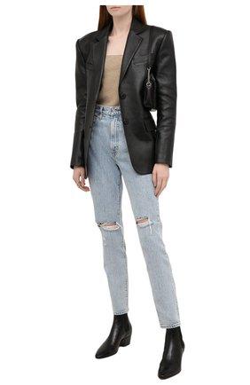 Женские джинсы SLVRLAKE голубого цвета, арт. PF21/BTNJ707S/TMWN | Фото 2 (Материал внешний: Хлопок; Длина (брюки, джинсы): Стандартные; Кросс-КТ: Деним; Детали: Потертости; Стили: Гранж; Силуэт Ж (брюки и джинсы): Прямые)