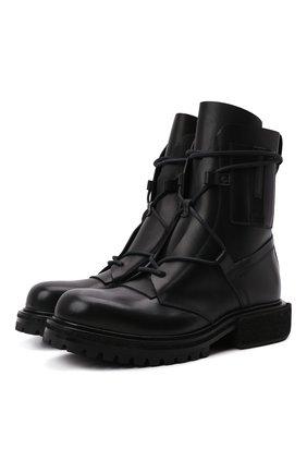 Мужские кожаные ботинки PREMIATA черного цвета, арт. 31926/ELBA | Фото 1 (Материал внутренний: Натуральная кожа; Подошва: Плоская; Мужское Кросс-КТ: Ботинки-обувь, Байкеры-обувь)