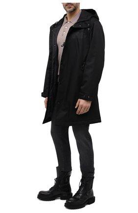 Мужские кожаные ботинки PREMIATA черного цвета, арт. 31926/ELBA | Фото 2 (Материал внутренний: Натуральная кожа; Подошва: Плоская; Мужское Кросс-КТ: Ботинки-обувь, Байкеры-обувь)