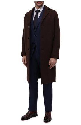 Мужские кожаные оксфорды SANTONI бордового цвета, арт. MCCG17756SB3EVRTQ67 | Фото 2 (Материал внутренний: Натуральная кожа; Стили: Классический)