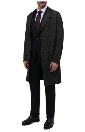 Мужские кожаные оксфорды SANTONI черного цвета, арт. MCCG17916SM5EVRTN01 | Фото 2 (Материал внутренний: Натуральная кожа; Мужское Кросс-КТ: Броги-обувь; Стили: Классический)