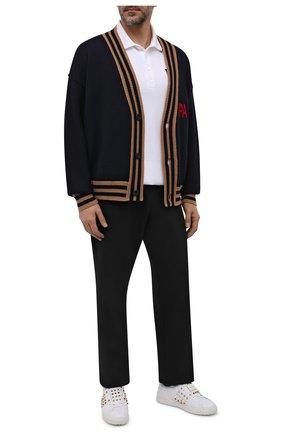 Мужские кожаные кеды rockstud untitled VALENTINO белого цвета, арт. WY0S0E85/BHS | Фото 2 (Подошва: Массивная; Материал внутренний: Натуральная кожа)