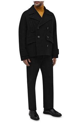 Мужские кожаные кеды SANTONI черного цвета, арт. MSAM21617NEARPWCN01 | Фото 2 (Материал внутренний: Натуральная кожа; Подошва: Плоская)