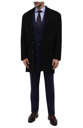 Мужская хлопковая сорочка ETON голубого цвета, арт. 1000 02471   Фото 2 (Рукава: Длинные; Длина (для топов): Стандартные; Материал внешний: Хлопок; Случай: Формальный; Манжеты: На пуговицах; Рубашки М: Slim Fit; Принт: Клетка; Стили: Классический; Воротник: Акула)