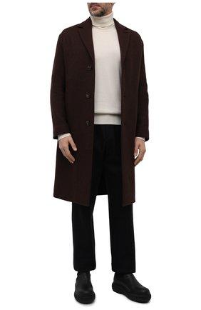 Мужской кашемировое пальто LORO PIANA коричневого цвета, арт. FAL6993 | Фото 2 (Длина (верхняя одежда): До колена; Материал внешний: Шерсть, Кашемир; Рукава: Длинные; Мужское Кросс-КТ: пальто-верхняя одежда; Застежка: Пуговицы; Стили: Классический)