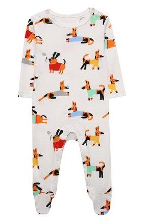 Детский комплект из комбинезона и боди STELLA MCCARTNEY разноцветного цвета, арт. 603515/SRJA4 | Фото 2 (Материал внешний: Хлопок; Рукава: Длинные)