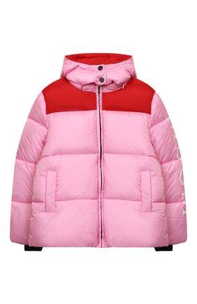 Детская утепленная куртка MSGM KIDS розового цвета, арт. MS027716 | Фото 1 (Материал внешний: Синтетический материал; Рукава: Длинные; Материал подклада: Синтетический материал; Кросс-КТ: Сезон: зима)