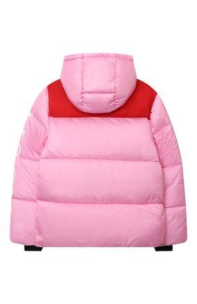 Детская утепленная куртка MSGM KIDS розового цвета, арт. MS027716 | Фото 2 (Материал внешний: Синтетический материал; Рукава: Длинные; Материал подклада: Синтетический материал; Кросс-КТ: Сезон: зима)