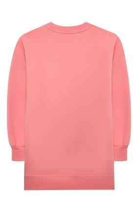 Детское хлопковое платье MSGM KIDS розового цвета, арт. MS028715 | Фото 2 (Материал внешний: Хлопок; Рукава: Длинные)