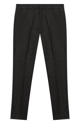 Детские брюки из шерсти и хлопка MSGM KIDS темно-серого цвета, арт. MS027931   Фото 1 (Материал внешний: Хлопок, Шерсть; Мальчики Кросс-КТ: Брюки-одежда)