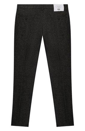 Детские брюки из шерсти и хлопка MSGM KIDS темно-серого цвета, арт. MS027931   Фото 2 (Материал внешний: Хлопок, Шерсть; Мальчики Кросс-КТ: Брюки-одежда)