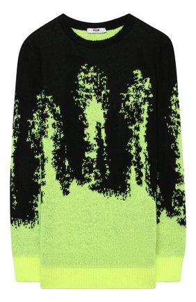 Детский пуловер MSGM KIDS разноцветного цвета, арт. MS027900   Фото 1 (Рукава: Длинные; Материал внешний: Синтетический материал; Мальчики Кросс-КТ: Пуловер-одежда)