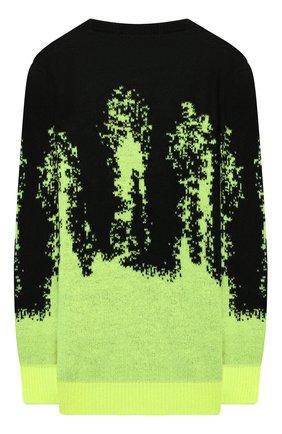 Детский пуловер MSGM KIDS разноцветного цвета, арт. MS027900   Фото 2 (Рукава: Длинные; Материал внешний: Синтетический материал; Мальчики Кросс-КТ: Пуловер-одежда)