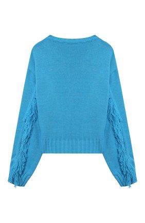 Детский пуловер MSGM KIDS голубого цвета, арт. MS027822 | Фото 2 (Материал внешний: Синтетический материал; Рукава: Длинные)