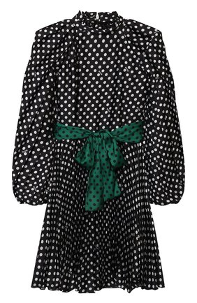 Детское платье MSGM KIDS черного цвета, арт. MS027803 | Фото 1 (Рукава: Длинные; Материал подклада: Вискоза; Материал внешний: Синтетический материал)