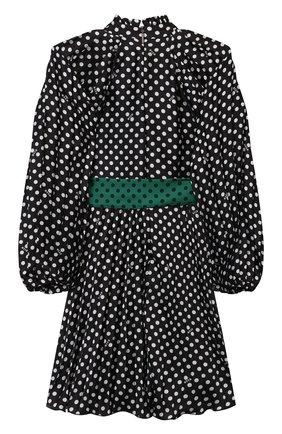 Детское платье MSGM KIDS черного цвета, арт. MS027803 | Фото 2 (Рукава: Длинные; Материал подклада: Вискоза; Материал внешний: Синтетический материал)