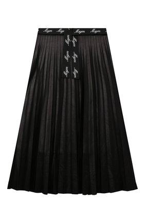 Детская юбка MSGM KIDS черного цвета, арт. MS027769 | Фото 1 (Материал внешний: Синтетический материал; Материал подклада: Хлопок)