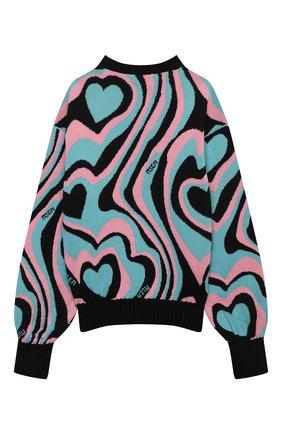 Детский пуловер MSGM KIDS разноцветного цвета, арт. MS027748 | Фото 2 (Рукава: Длинные; Материал внешний: Синтетический материал, Шерсть; Девочки Кросс-КТ: Пуловер-одежда)