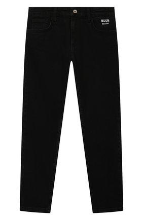 Детские джинсы MSGM KIDS черного цвета, арт. MS027734 | Фото 1 (Материал внешний: Хлопок; Кросс-КТ: джинсы)
