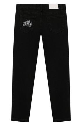 Детские джинсы MSGM KIDS черного цвета, арт. MS027734 | Фото 2 (Материал внешний: Хлопок; Кросс-КТ: джинсы)