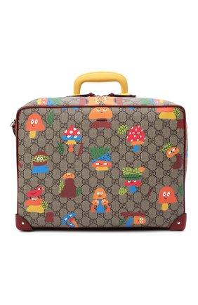 Детская сумка GUCCI разноцветного цвета, арт. 664152/22BAN   Фото 1 (Материал: Экокожа)