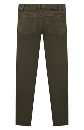Детские джинсы DIESEL хаки цвета, арт. 00J3Y1-KXB9Z | Фото 2 (Материал внешний: Хлопок)