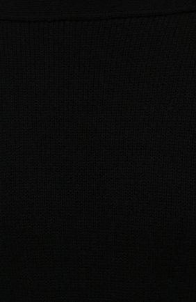 Женское шерстяное платье BOTTEGA VENETA черного цвета, арт. 677420/V1F50 | Фото 5 (Материал внешний: Шерсть; Рукава: Длинные; Длина Ж (юбки, платья, шорты): Мини, До колена; Случай: Повседневный; Кросс-КТ: Трикотаж; Стили: Бохо; Женское Кросс-КТ: Платье-одежда)