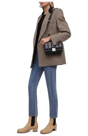 Женские кожаные ботильоны square toe MANU ATELIER бежевого цвета, арт. 2021317 | Фото 2 (Подошва: Плоская; Материал внутренний: Натуральная кожа; Каблук высота: Низкий; Каблук тип: Устойчивый)