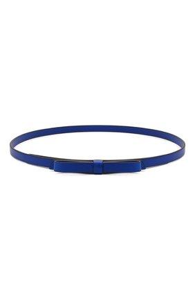 Женский кожаный ремень REDVALENTINO синего цвета, арт. WQ0T0A73/MEN   Фото 1 (Кросс-КТ: Тонкие)