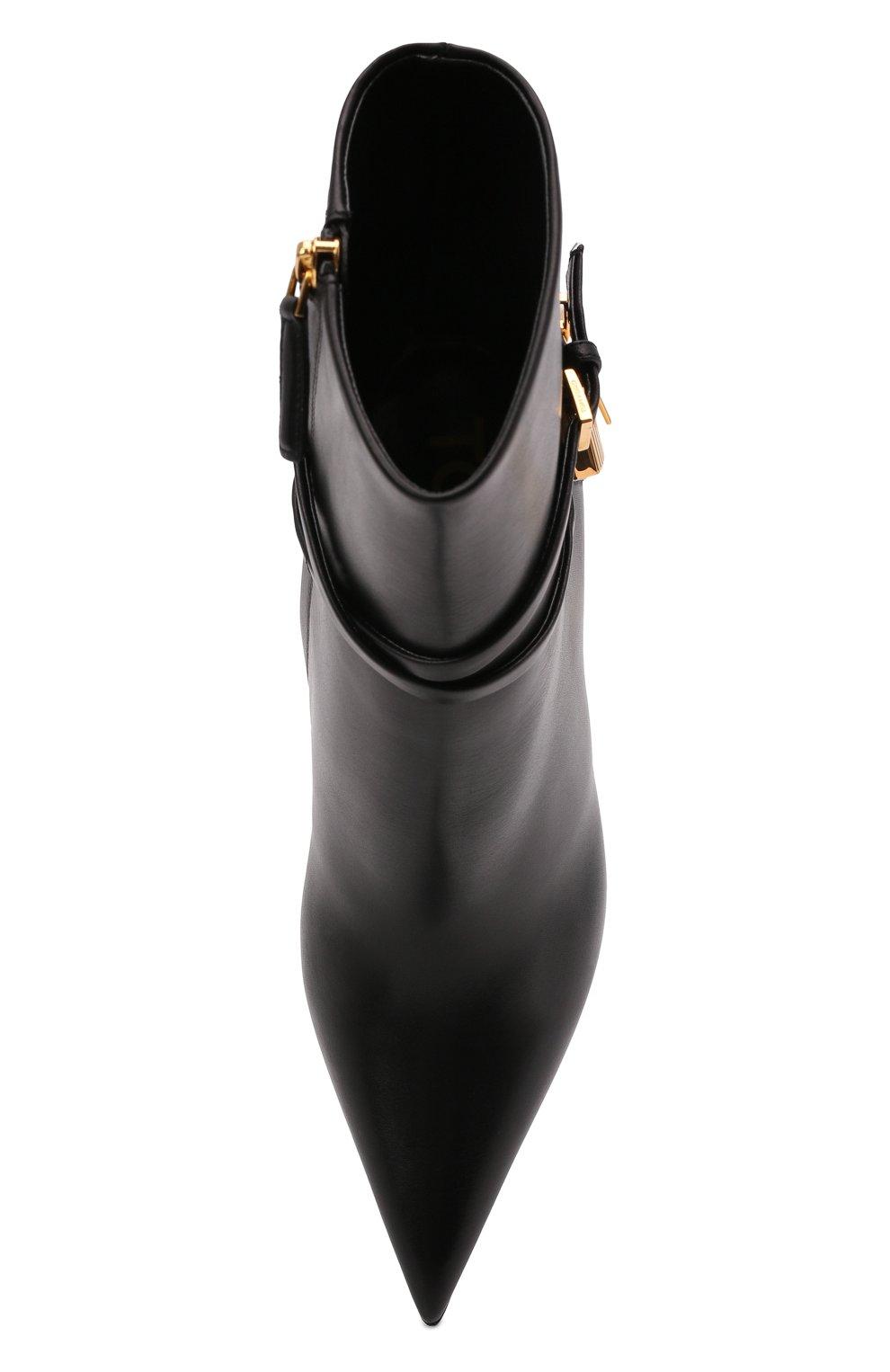 Женские кожаные ботильоны TOM FORD черного цвета, арт. W2959T-LCL002 | Фото 6 (Каблук высота: Высокий; Материал внутренний: Натуральная кожа; Каблук тип: Шпилька; Подошва: Плоская)