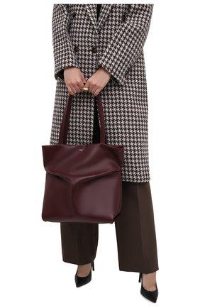 Женский сумка-тоут judy CHLOÉ бордового цвета, арт. CHC21WS280F16   Фото 2 (Материал: Натуральная кожа; Сумки-технические: Сумки-шопперы; Размер: large)