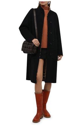 Женские кожаные сапоги edith CHLOÉ красного цвета, арт. CHC21W52079   Фото 2 (Материал внутренний: Натуральная кожа; Каблук тип: Устойчивый; Высота голенища: Высокие, Средние; Каблук высота: Низкий; Подошва: Платформа)