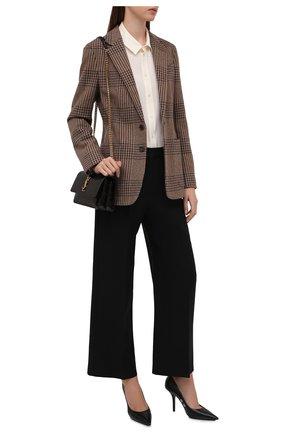 Женская шелковая рубашка RALPH LAUREN белого цвета, арт. 290856605 | Фото 2 (Рукава: Длинные; Длина (для топов): Стандартные; Материал внешний: Шелк; Стили: Кэжуэл; Принт: Без принта; Женское Кросс-КТ: Рубашка-одежда)