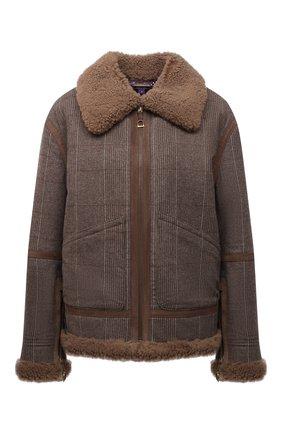 Женская шерстяная куртка RALPH LAUREN серого цвета, арт. 290858153 | Фото 1 (Материал внешний: Шерсть; Материал утеплителя: Натуральный мех; Длина (верхняя одежда): Короткие; Рукава: Длинные; Стили: Кэжуэл; Кросс-КТ: Куртка)