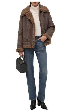 Женская шерстяная куртка RALPH LAUREN серого цвета, арт. 290858153 | Фото 2 (Материал внешний: Шерсть; Материал утеплителя: Натуральный мех; Длина (верхняя одежда): Короткие; Рукава: Длинные; Стили: Кэжуэл; Кросс-КТ: Куртка)