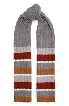 Женский кашемировый шарф LORO PIANA светло-серого цвета, арт. FAL6080 | Фото 1 (Материал: Шерсть, Кашемир)