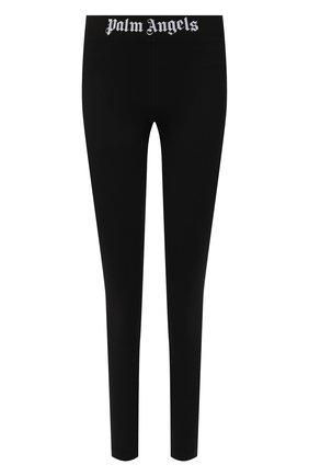 Женские леггинсы PALM ANGELS черного цвета, арт. PWCD006F21FAB0031001 | Фото 1 (Материал внешний: Синтетический материал; Длина (брюки, джинсы): Стандартные; Стили: Спорт-шик; Женское Кросс-КТ: Леггинсы-одежда, Леггинсы-спорт)
