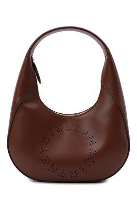 Женская сумка stella logo small STELLA MCCARTNEY коричневого цвета, арт. 700269/W8542 | Фото 1 (Материал: Экокожа, Текстиль; Размер: small; Сумки-технические: Сумки top-handle)