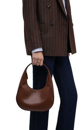 Женская сумка stella logo small STELLA MCCARTNEY коричневого цвета, арт. 700269/W8542 | Фото 2 (Материал: Экокожа, Текстиль; Размер: small; Сумки-технические: Сумки top-handle)