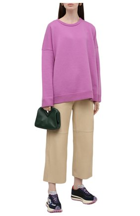 Женские текстильные кроссовки STELLA MCCARTNEY синего цвета, арт. 800430/N0262 | Фото 2 (Материал внешний: Текстиль; Подошва: Платформа; Материал внутренний: Текстиль)
