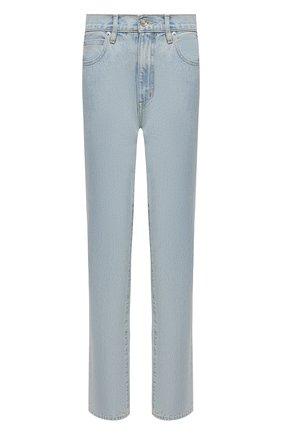 Женские джинсы SLVRLAKE голубого цвета, арт. PF21/R0XJ707S/CLSK | Фото 1 (Материал внешний: Хлопок; Длина (брюки, джинсы): Стандартные; Стили: Кэжуэл; Кросс-КТ: Деним; Силуэт Ж (брюки и джинсы): Слим)